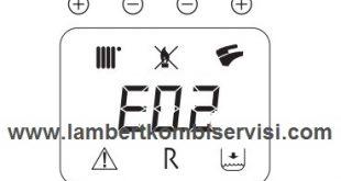 Lambert Kombi E02 Arıza Kodu ve Çözümü