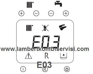 Lambert Kombi E03 Arıza Kodu ve Çözümü