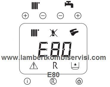Lambert Kombi E80 Arıza Kodu ve Çözümü